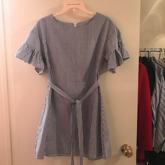 Dresses & Skirts - Blue stripe dress